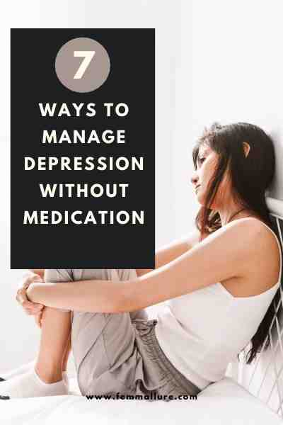how to manage depression without medication